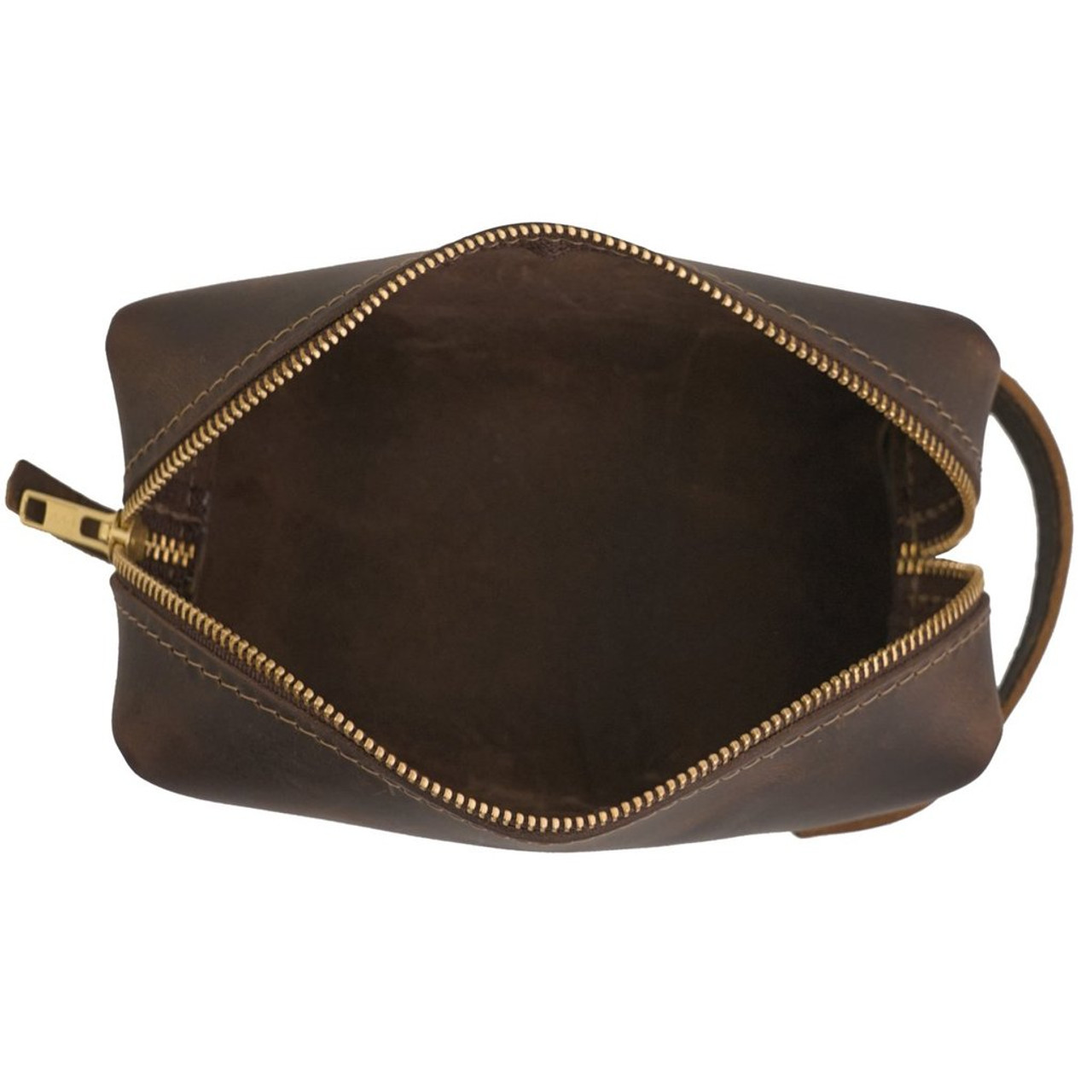 Large Leather Pouch - High Line by Rustico - open view