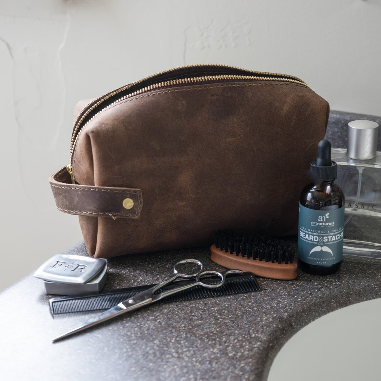 Large Leather Pouch - High Line by Rustico -Lifestyle
