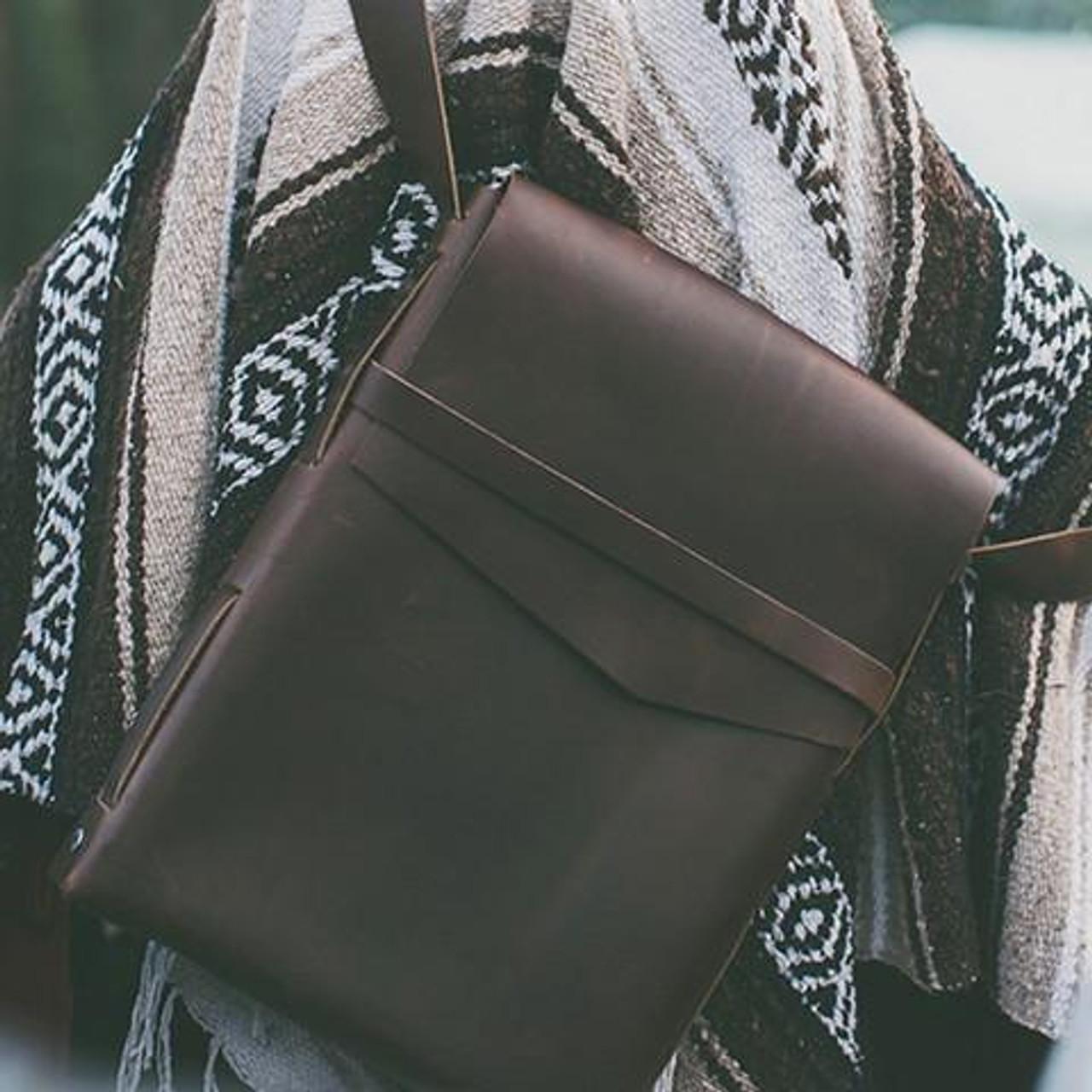 Leather Satchel - Explorer by Rustico - Dark Brown - Lifestyle