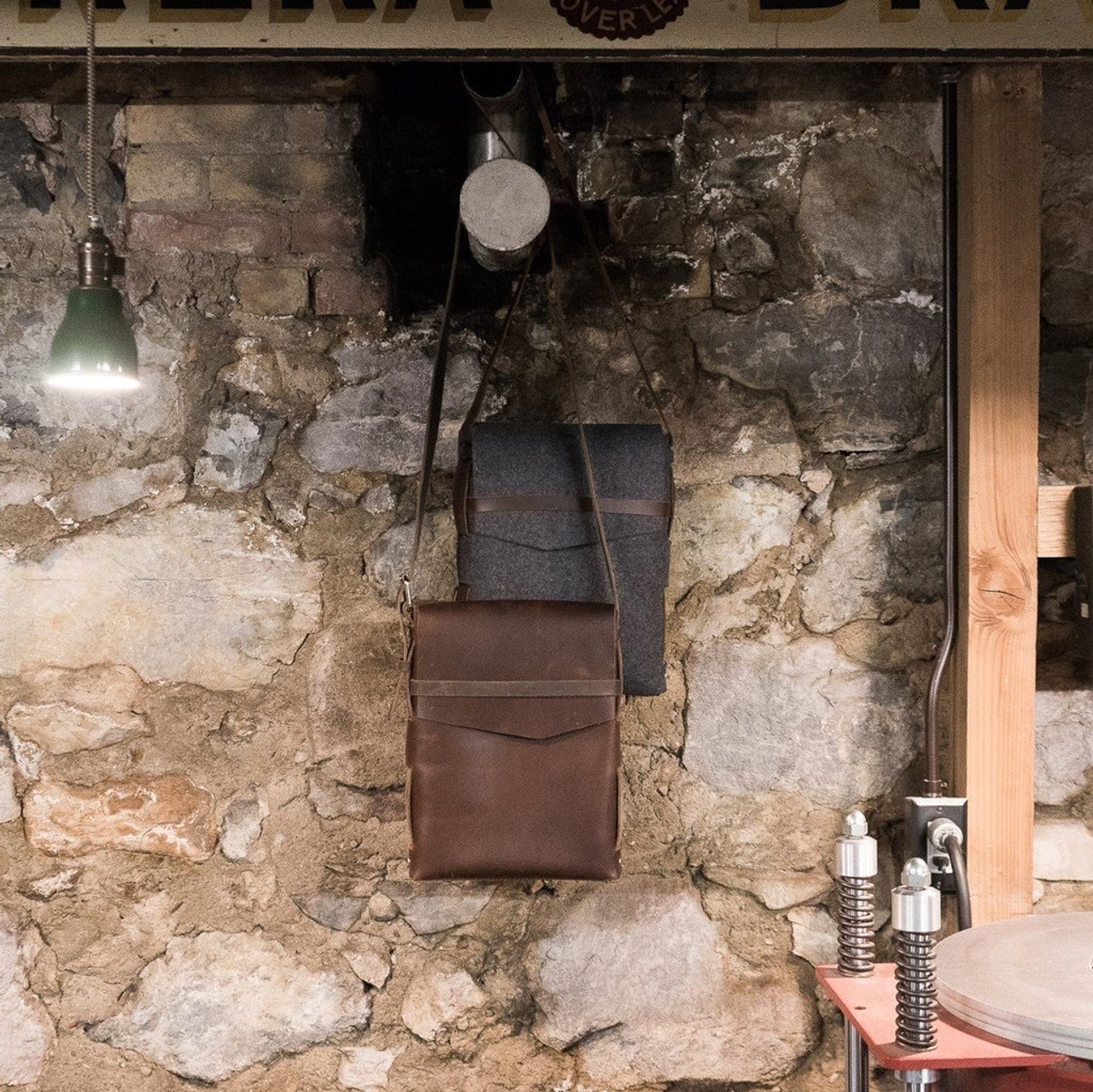Leather Satchel - Explorer by Rustico - Dark Brown - Lifestyle 2
