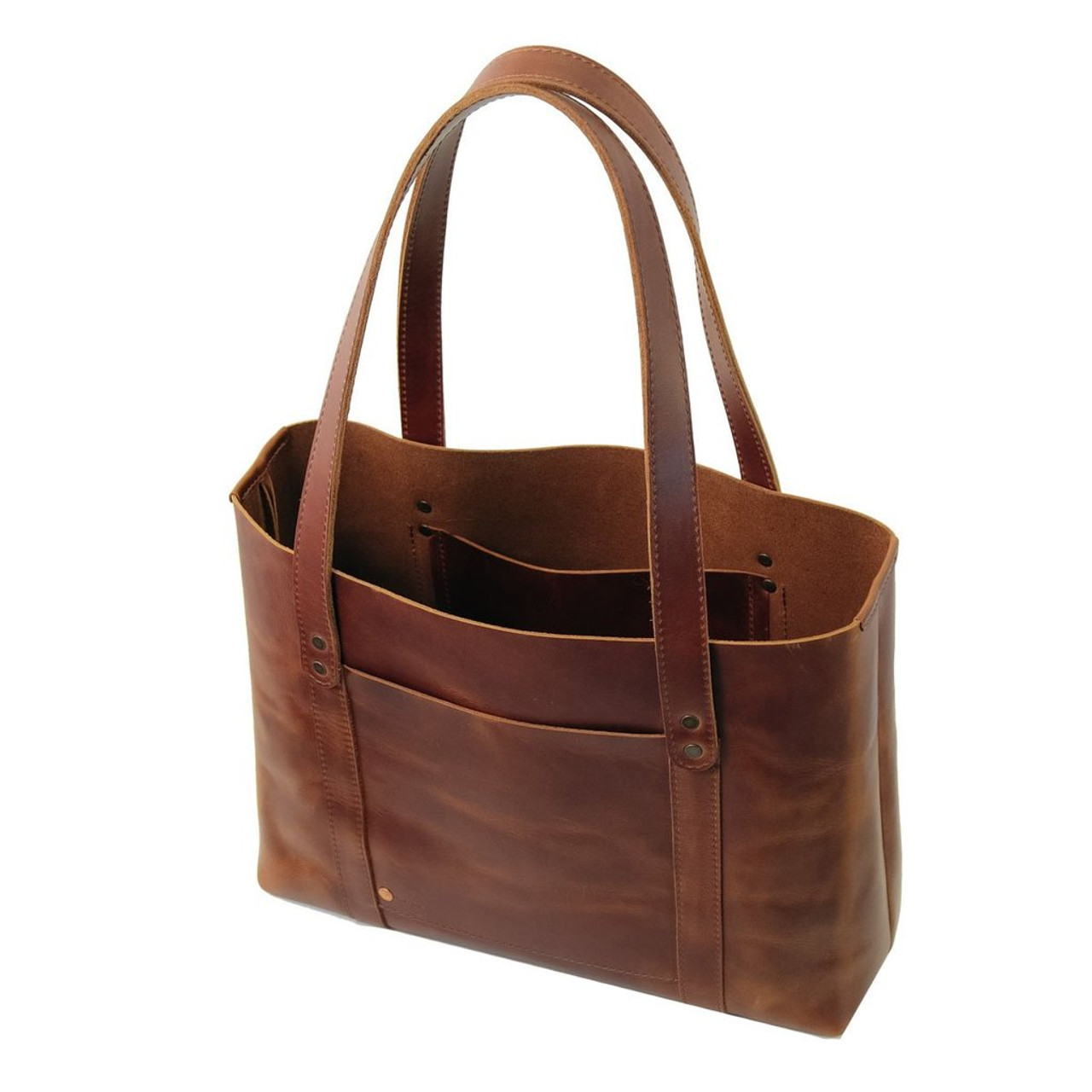 Leather Tote - Hideout by Rustico - Saddle - Handcrafted