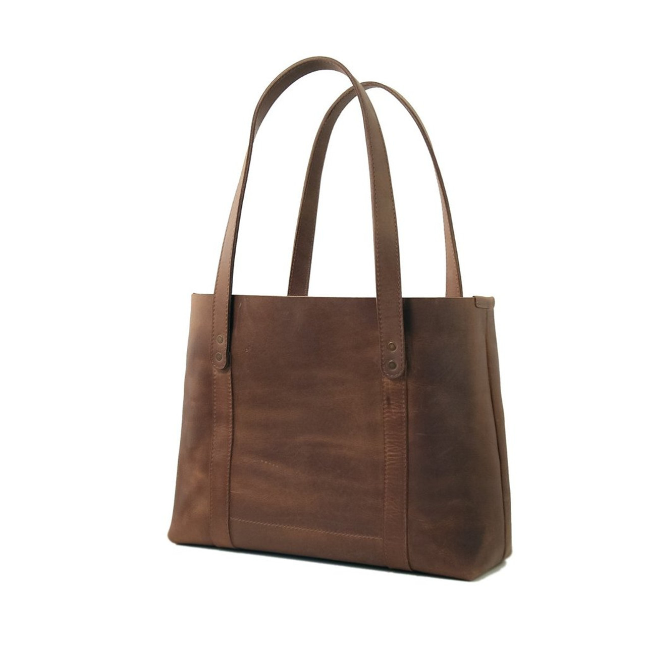 Leather Tote - Hideout by Rustico - Dark Brown
