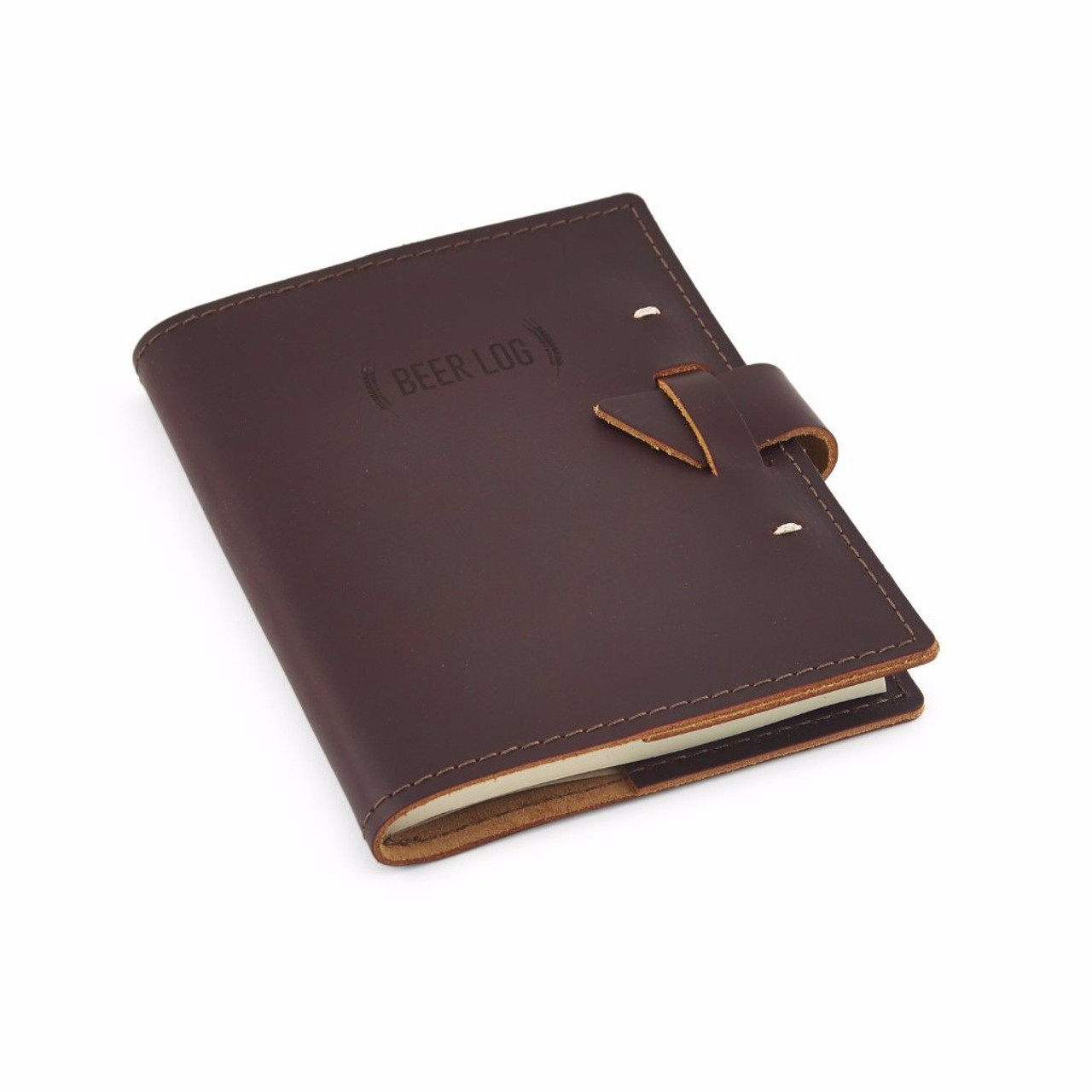 Rustico Leather Beer Tasters Log Book - Side