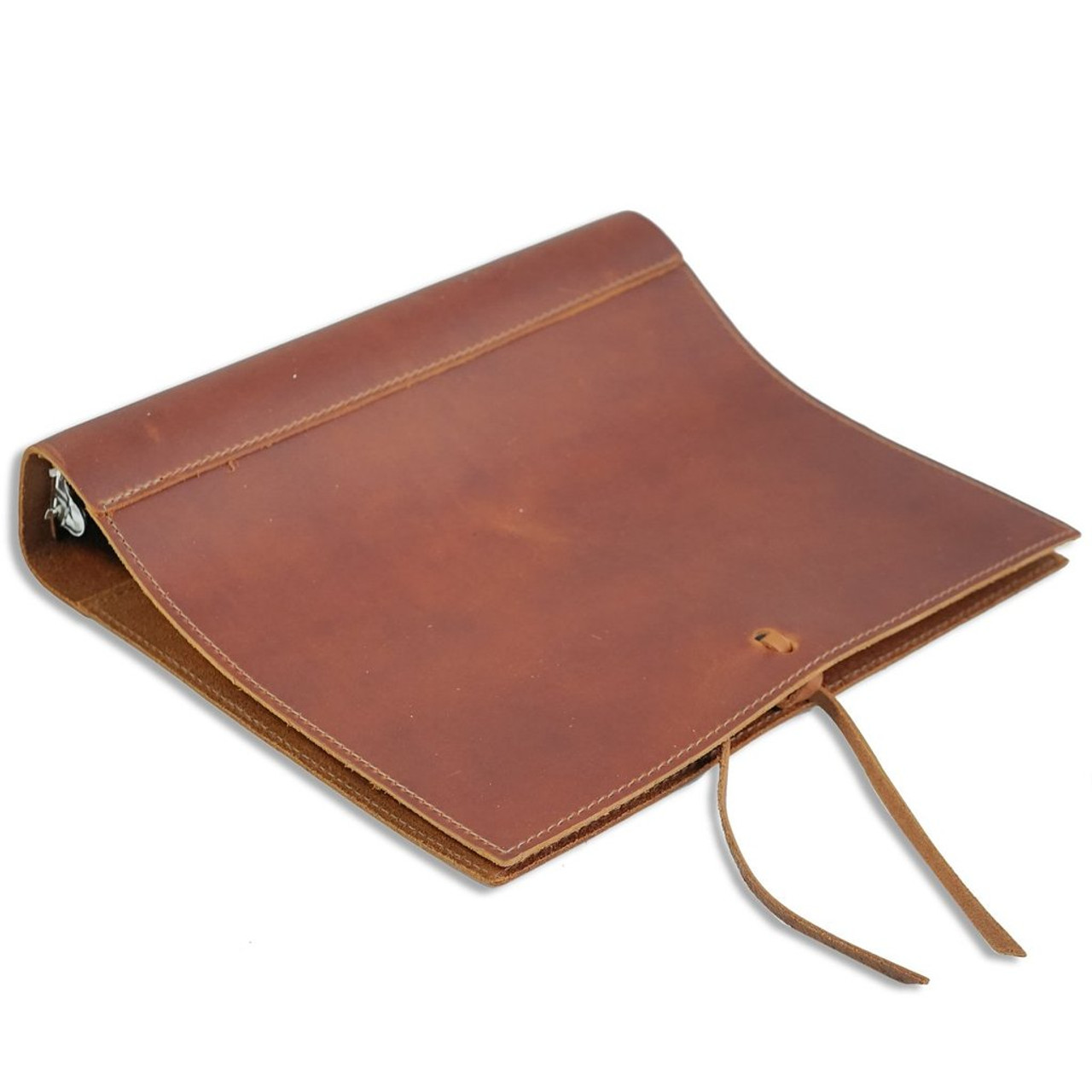 "Rustico Soft Leather Binder with 1.5"" Rings 8"" x 11"" - Side View"