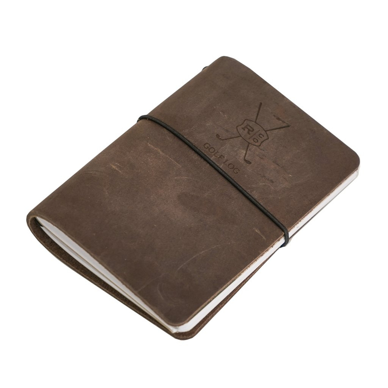Leather Golf Log - Refillable - Side