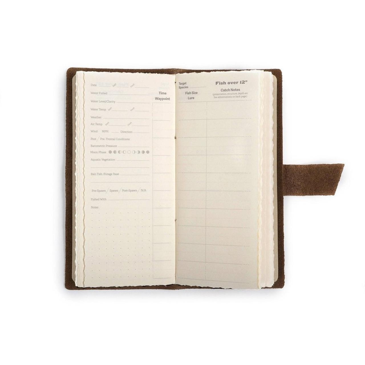 Rustico Fishing Log Book - inside