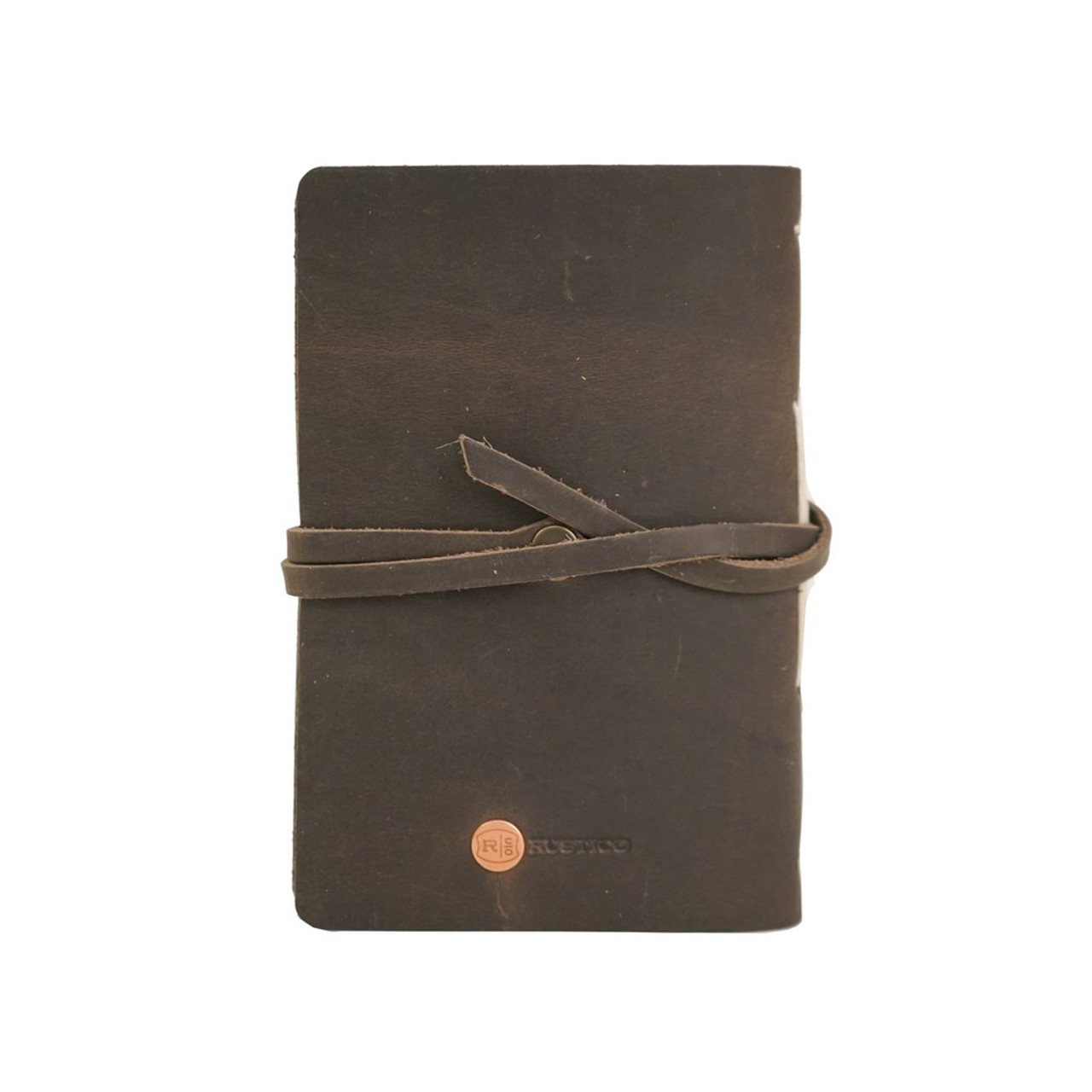 Rustico Leather Golf Log Book - Back
