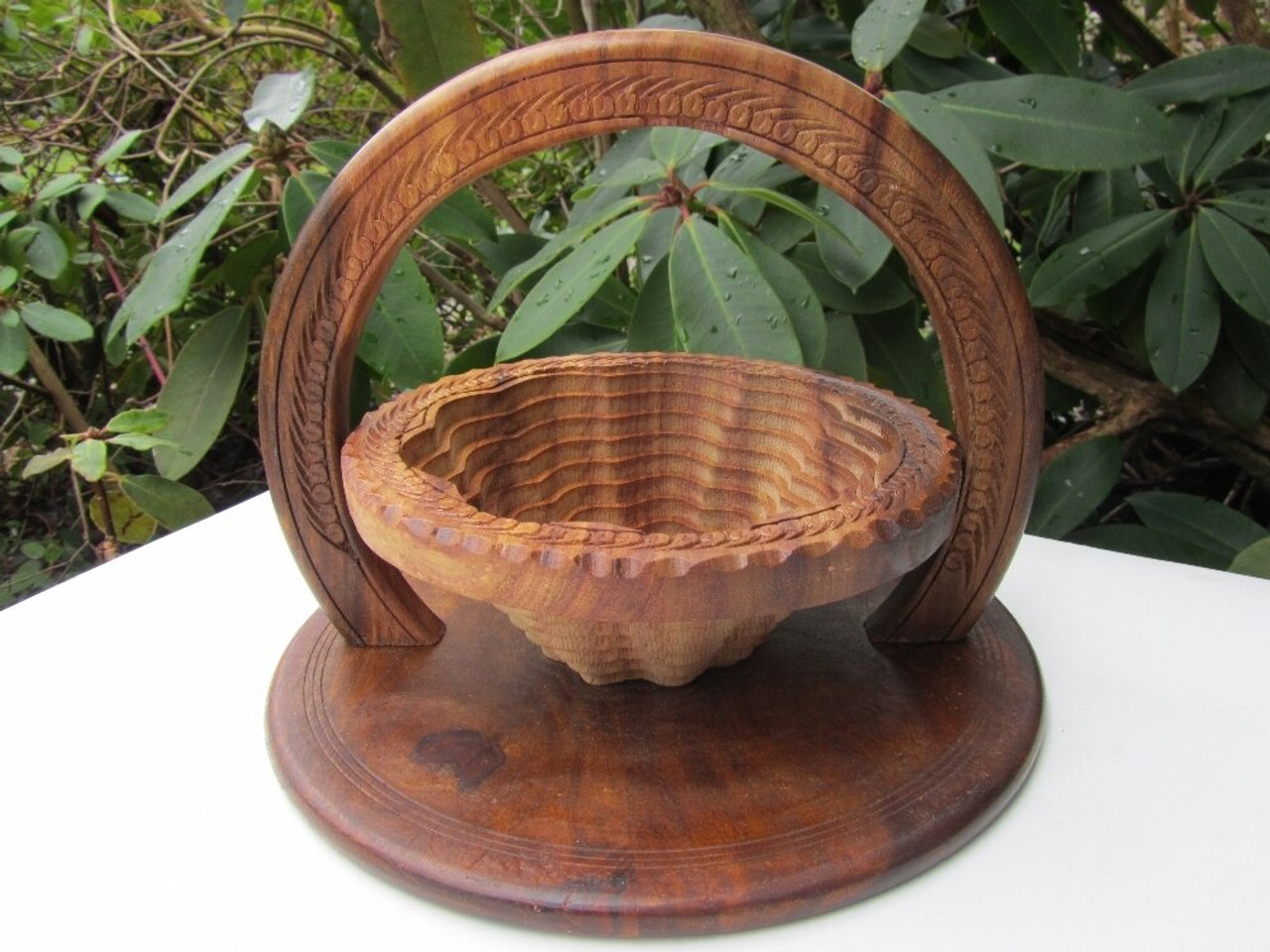Collapsible Wooden Basket 12 inch One Compartment