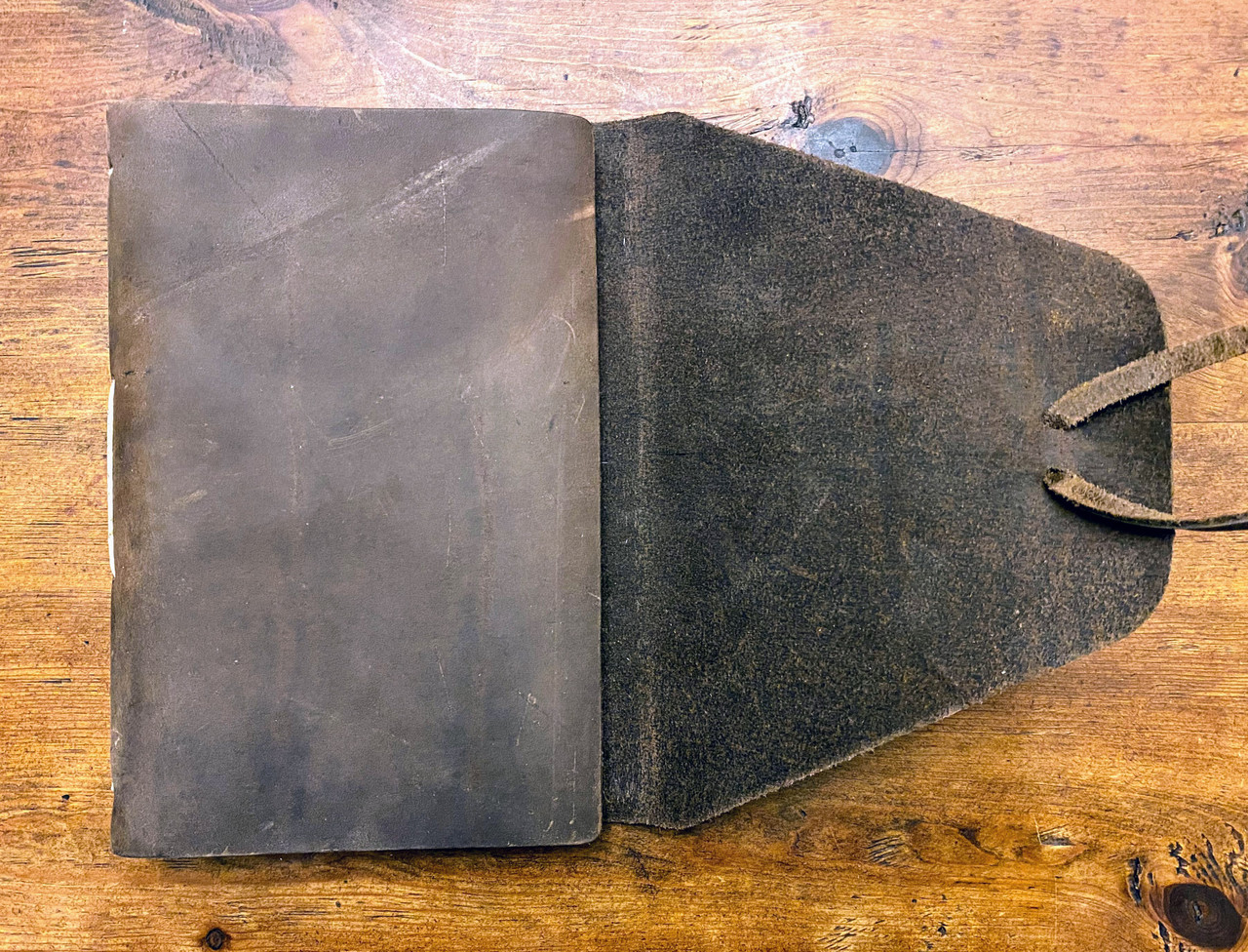 """REDUCED - AS SHOWN - Rustico Messenger Leather Journal 7"""" x 9"""".."""