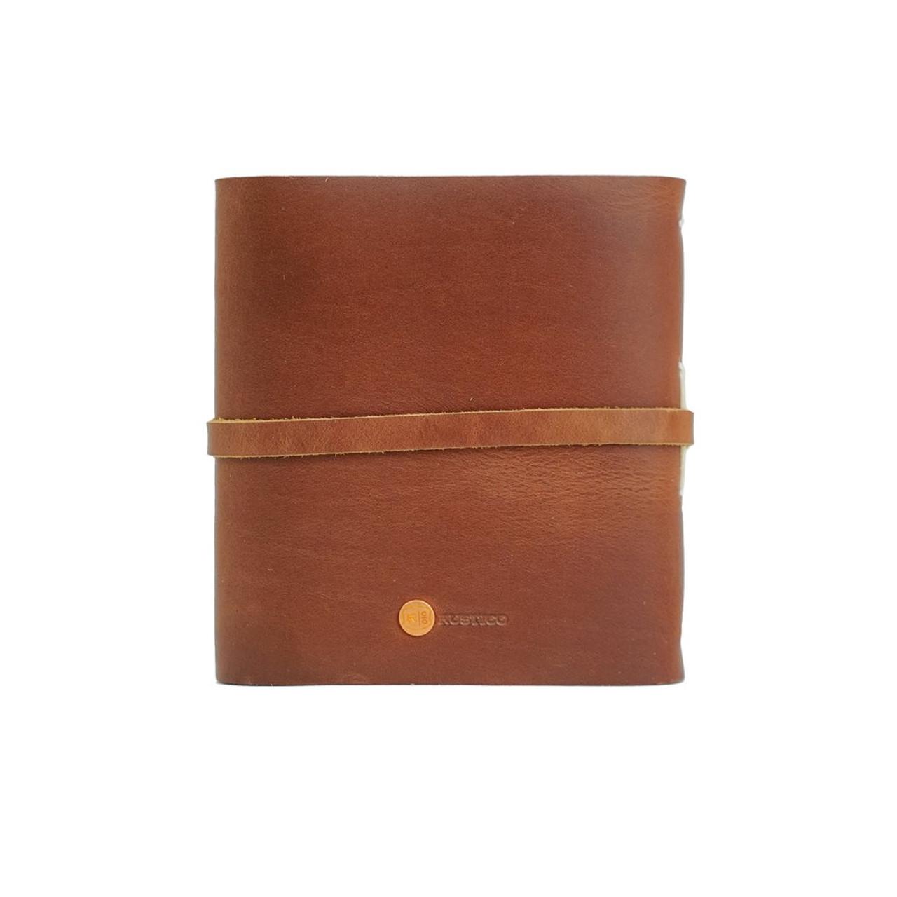 "Rustico Leather Photo Album - Rear View - 4"" x 4"""
