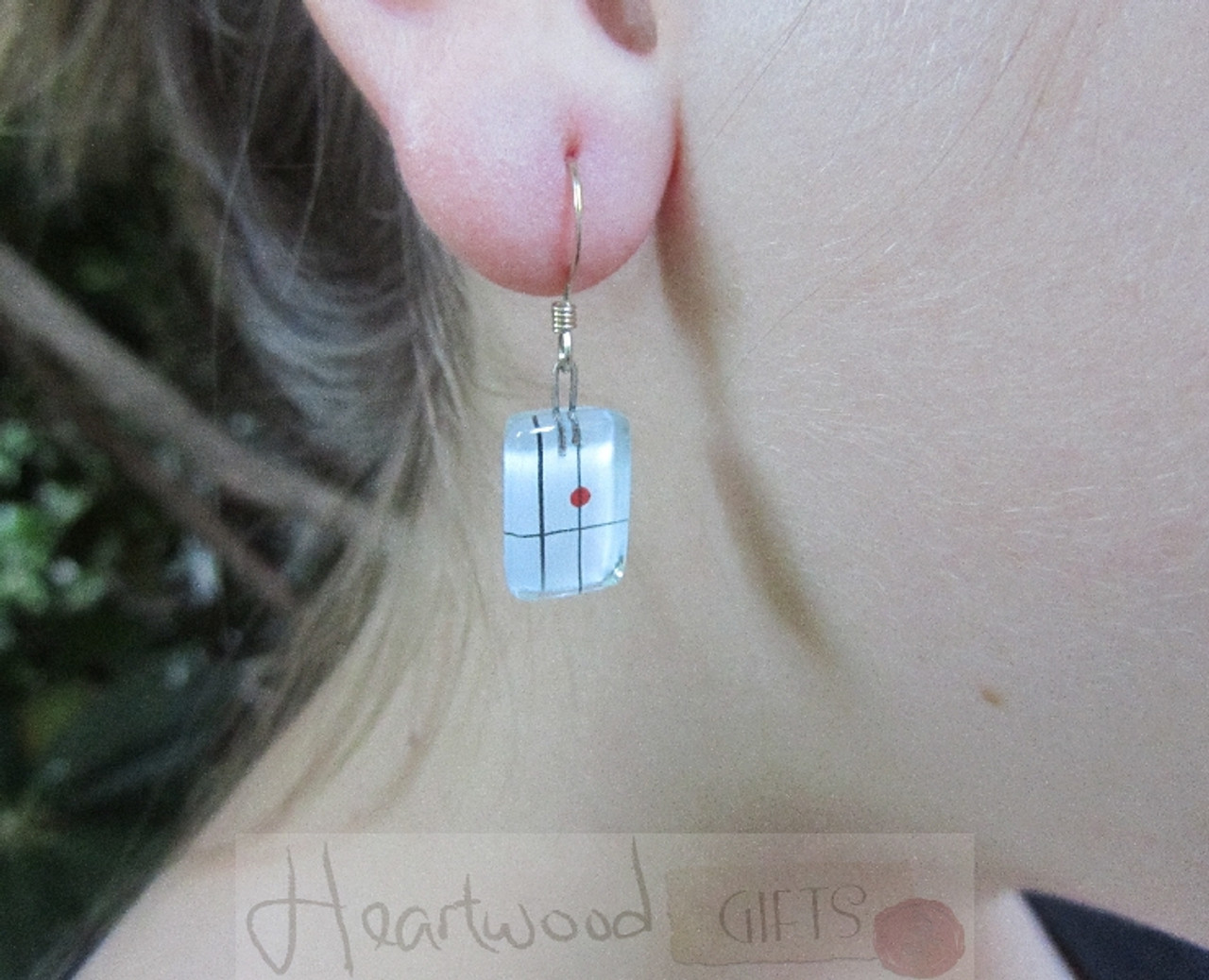 Model with Momo Glassworks Momo Earrings