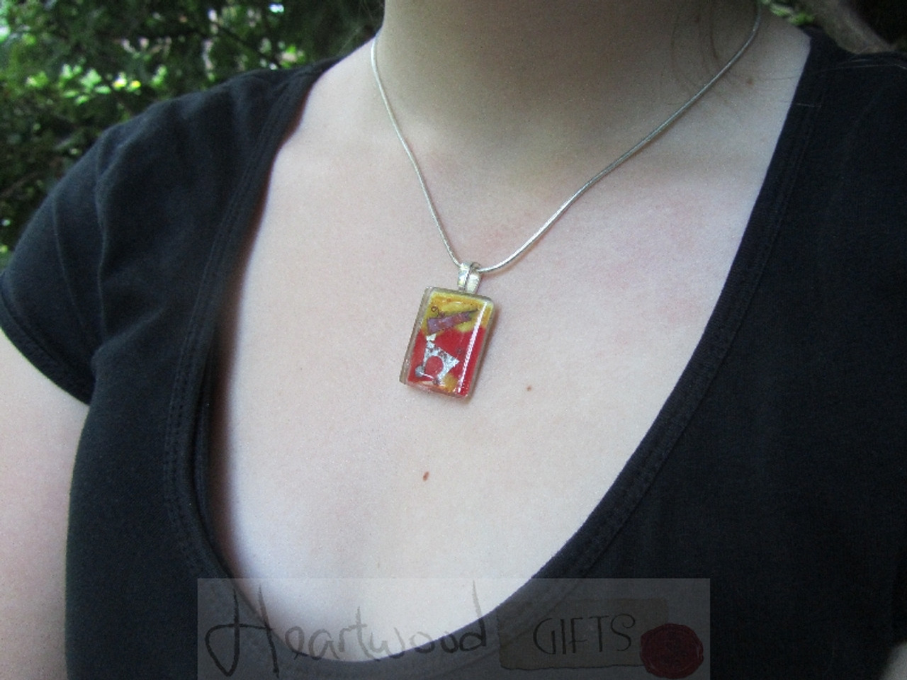 Model with Momo Glassworks Playtime Glass Pendant