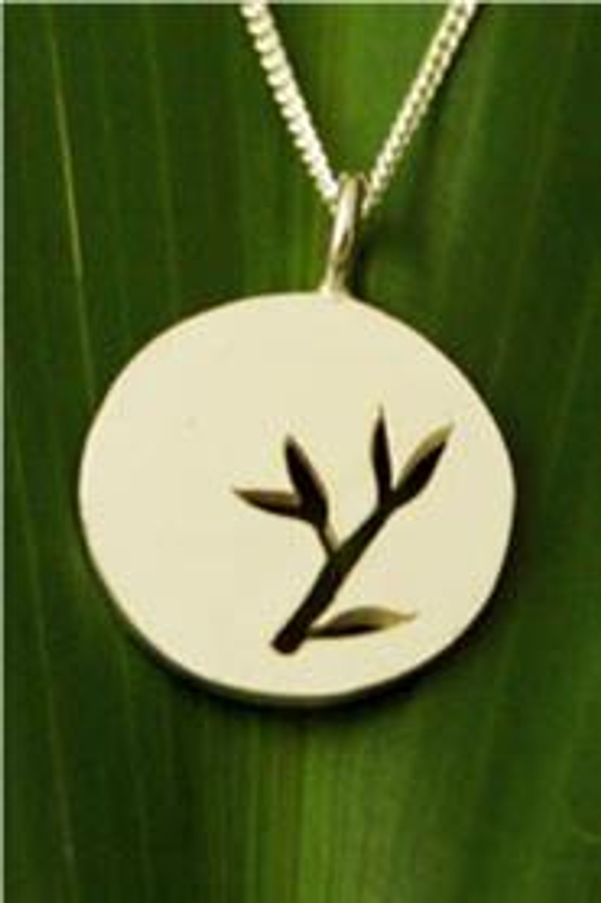 Filou Designs Sterling Silver Bamboo Medallion Cutout Necklace