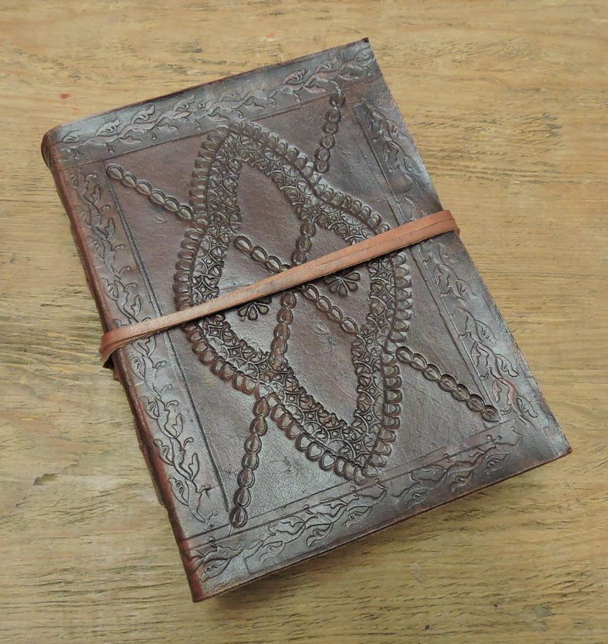 Phasha Leather Journal Small with LINED PAPER A