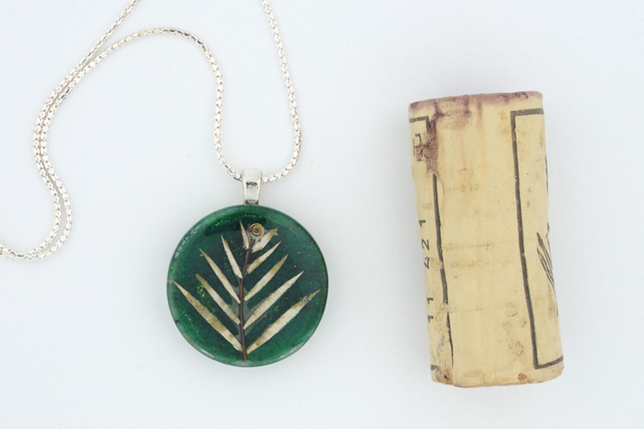 Leaf Glass Medallion