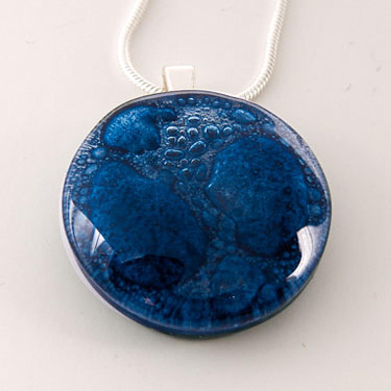 Momo Glassworks Cobalt Blue Medallion