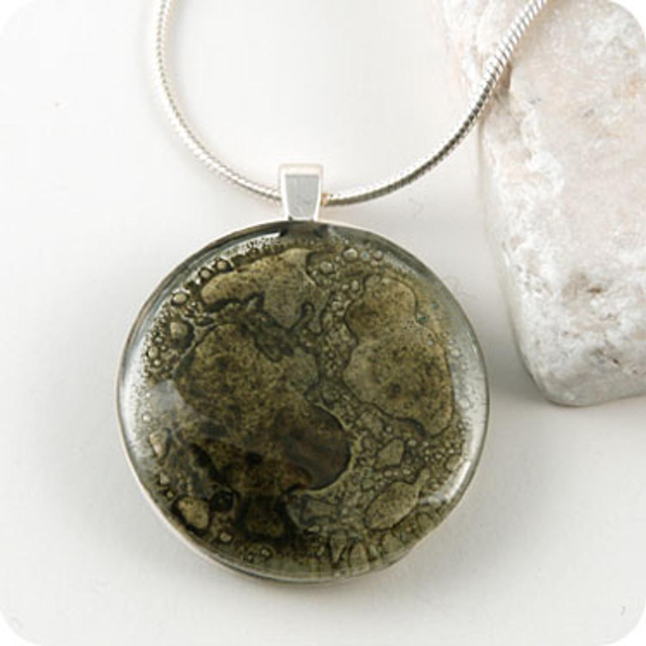 Momo Glassworks Olive Glass Medallion