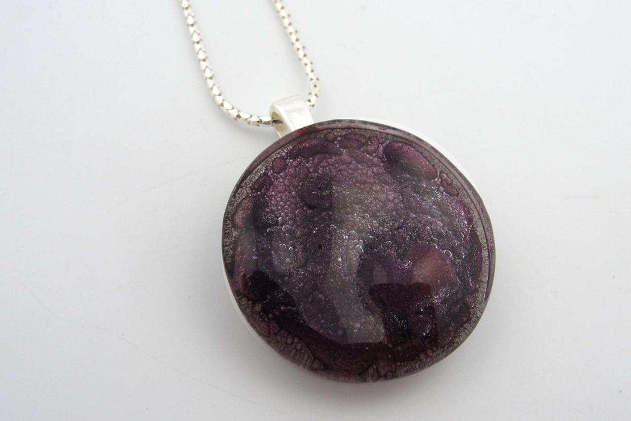 Amethyst Glass Medallion