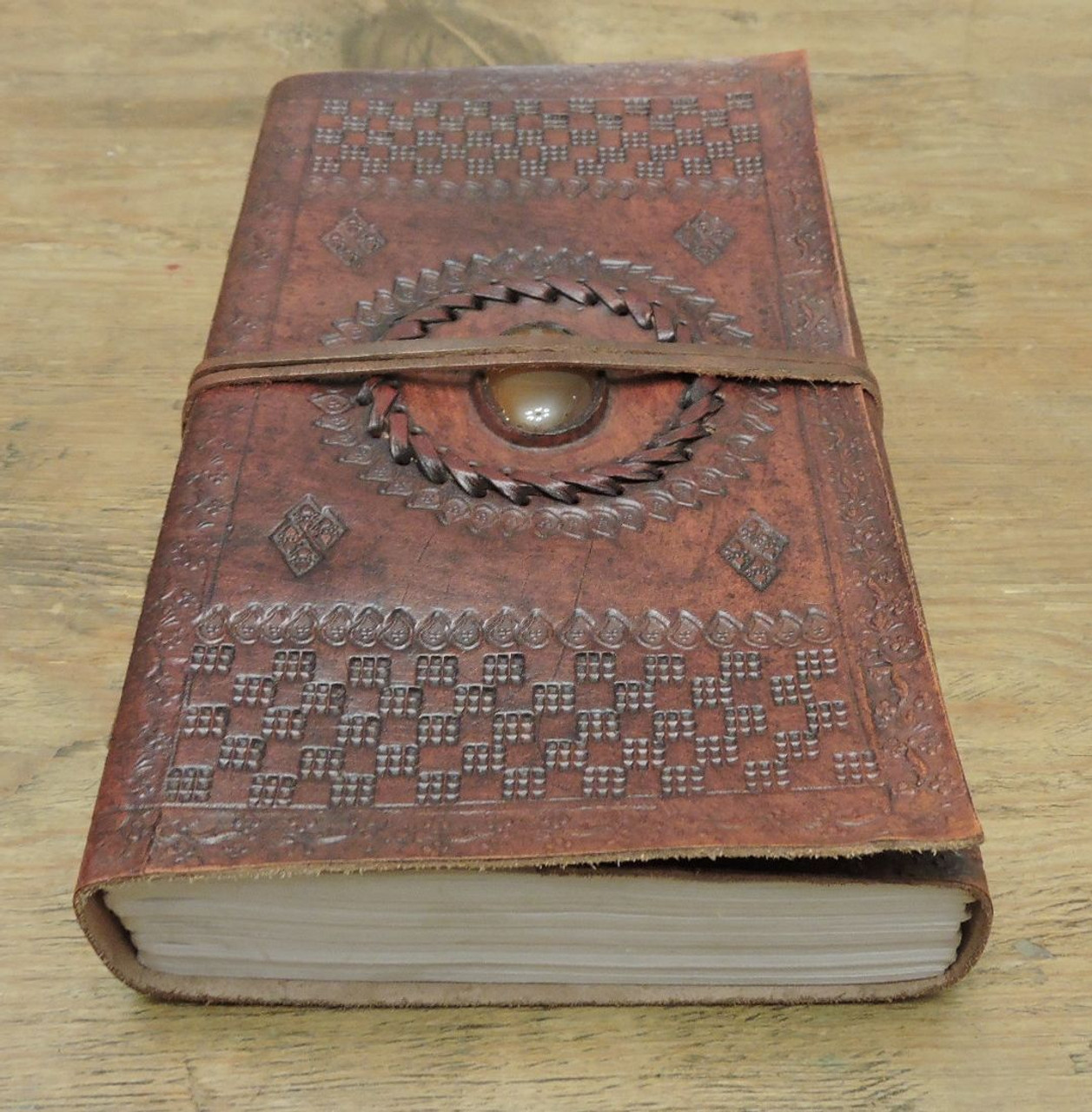9 x 5 leather journal - bottom view