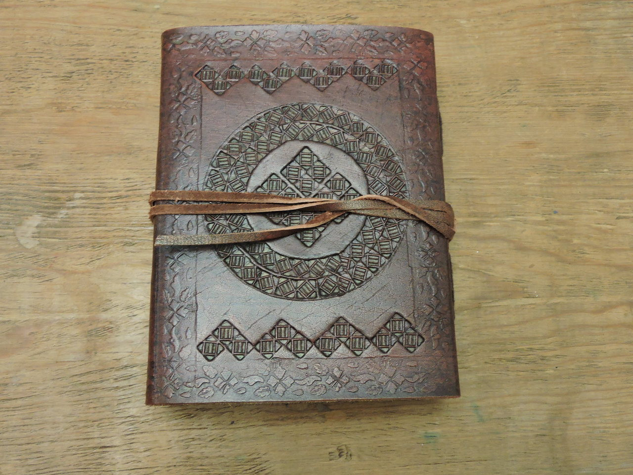 Phasha Leather Journal Small with LINED PAPER 6 x 4.5 - back cover