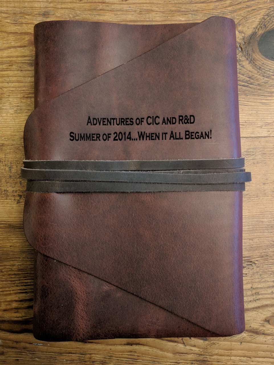 Leather Journal with engraved name