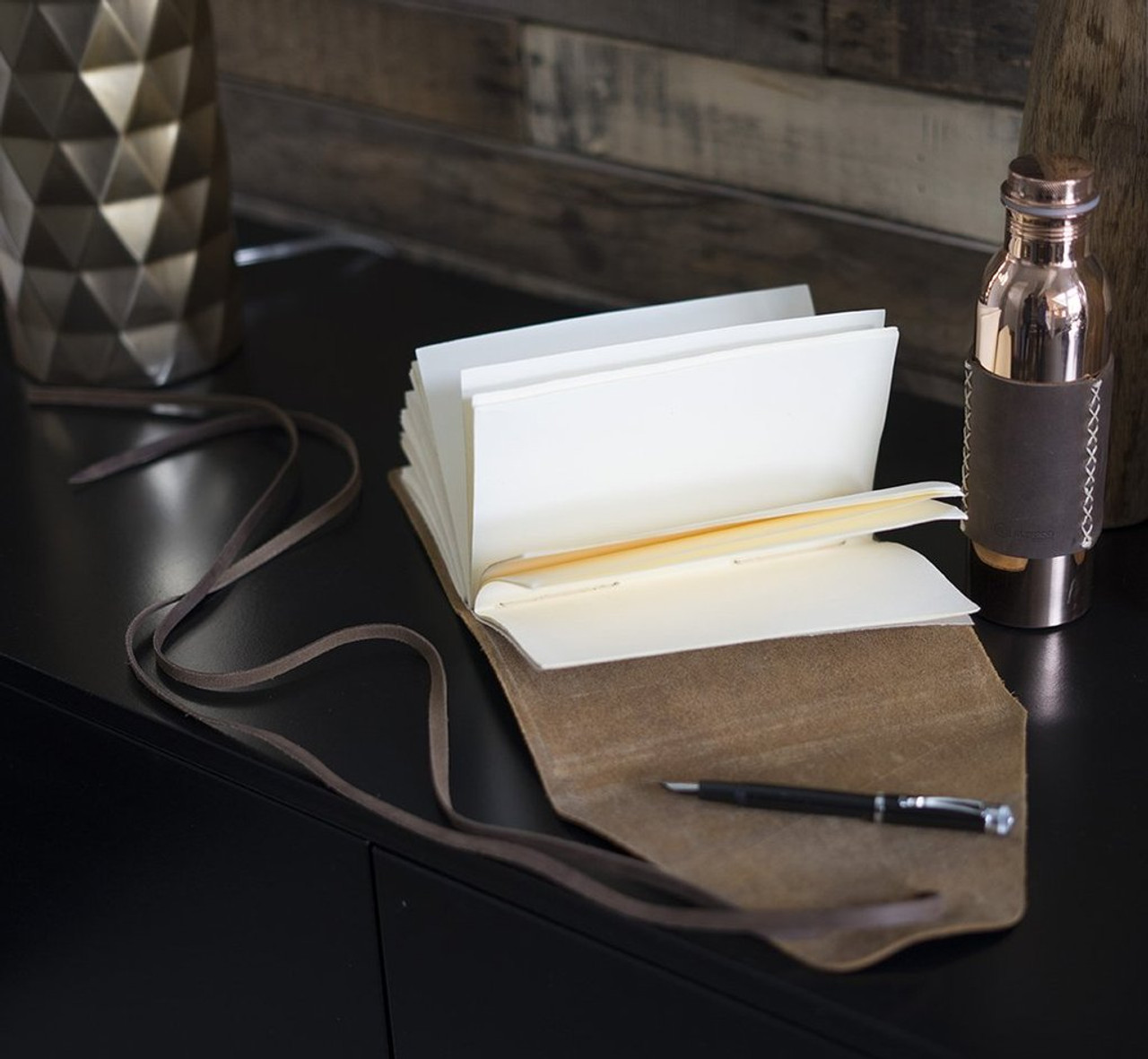 Engravable Messenger Leather Journal