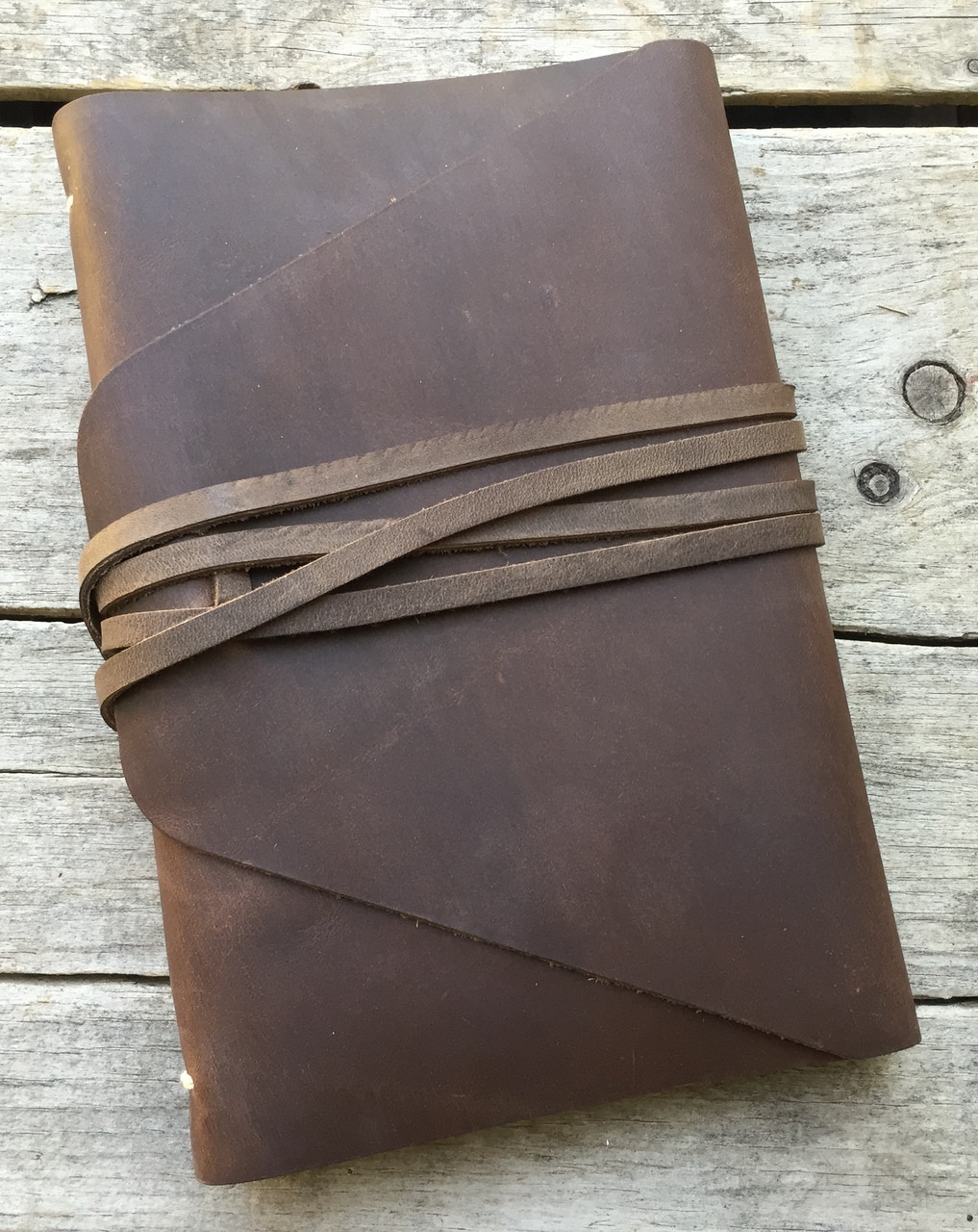 "Rustico ""The Messenger"" Leather Journal 7"" x 9"""