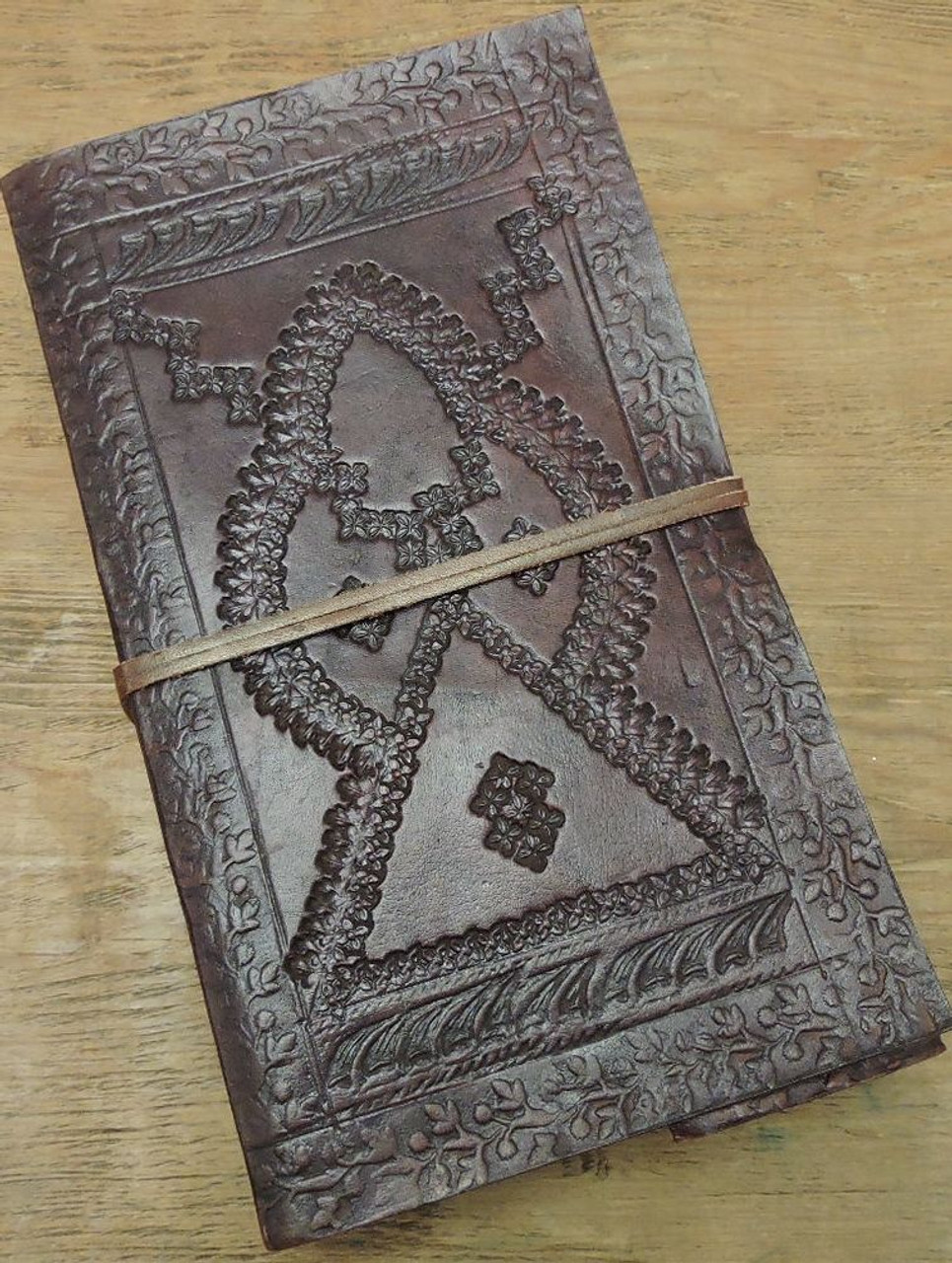 handcrafted leather journal with lined paper