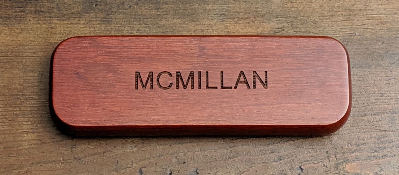 Engraved pen and pencil box
