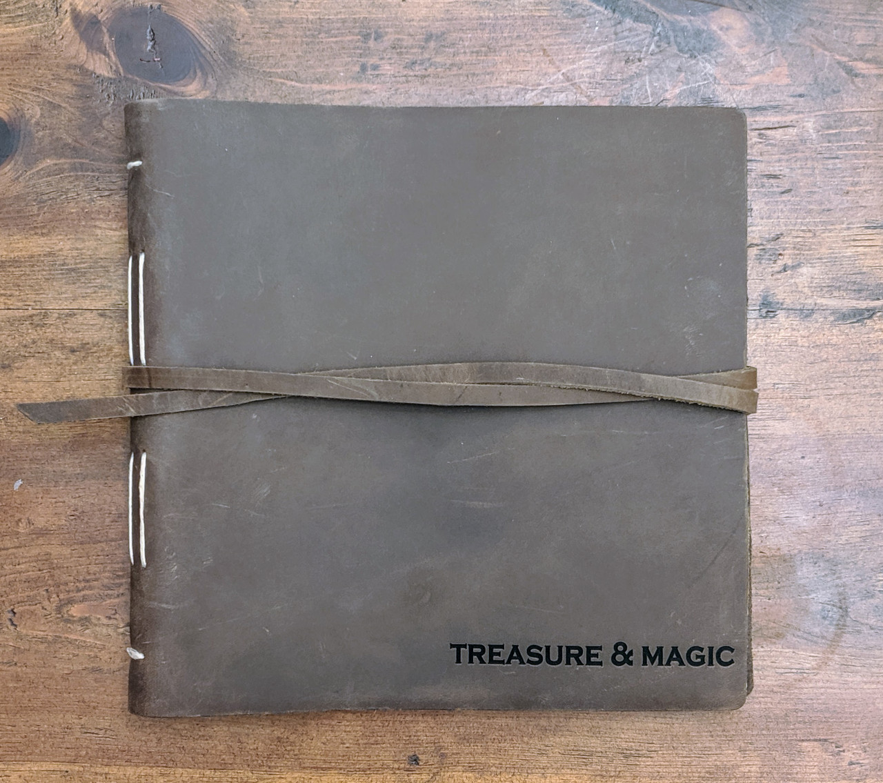 personalized leather journal album