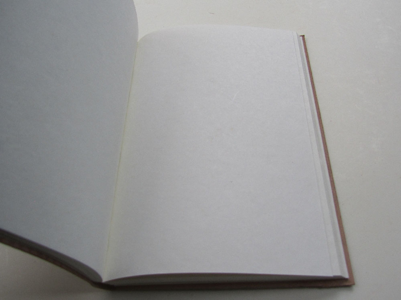 Cotton paper inside leather journal