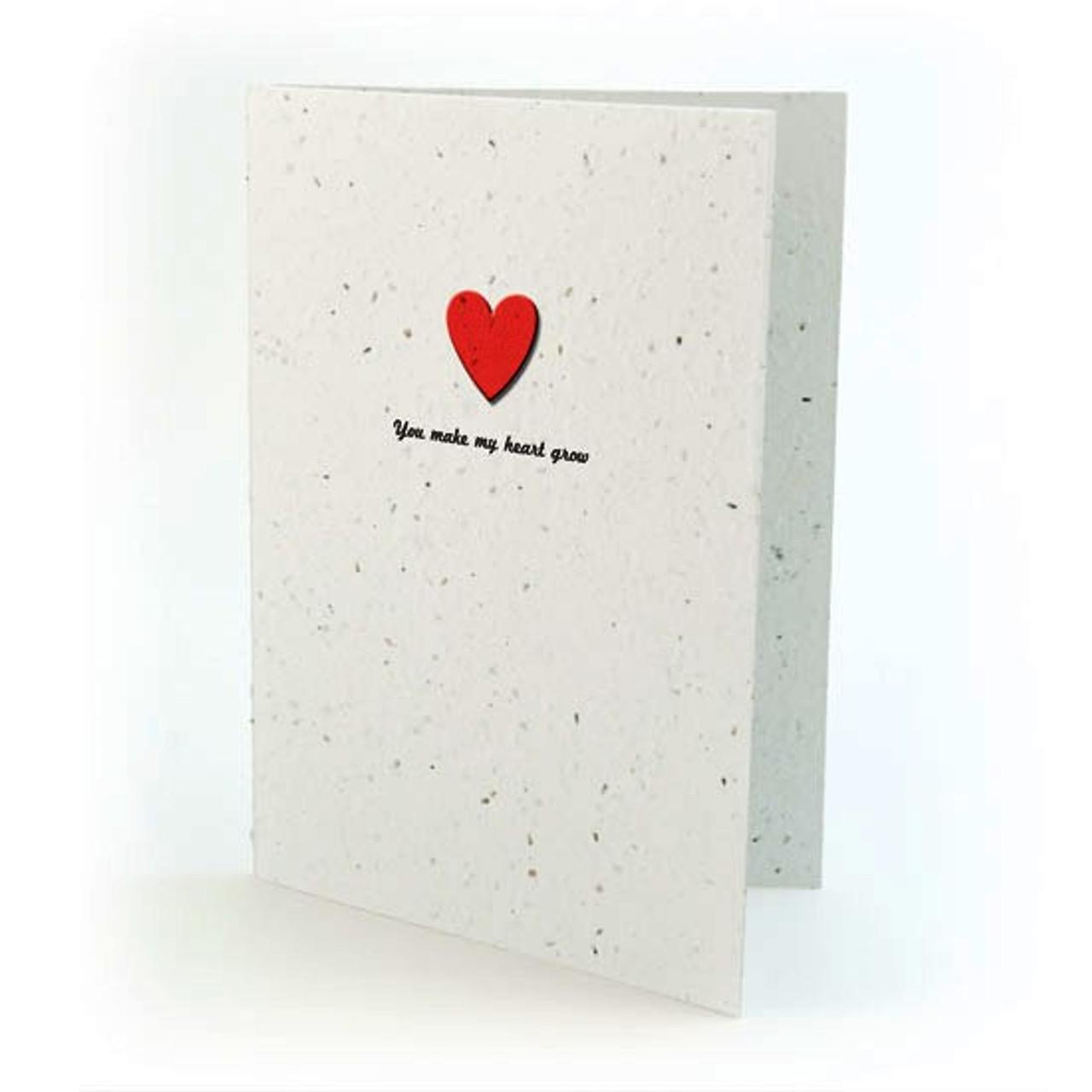 seed card - you make my heart grow