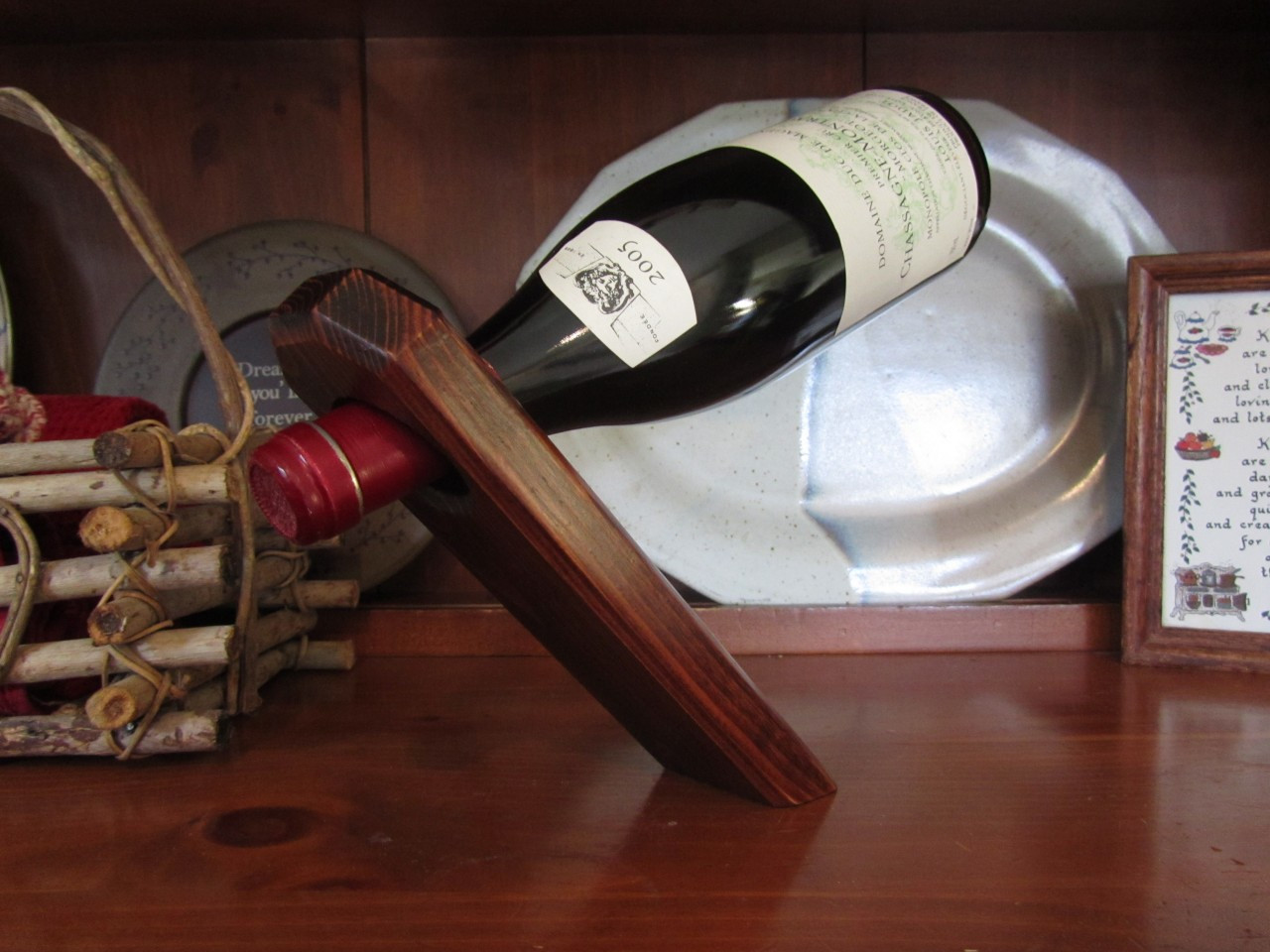 wine bottle holder display