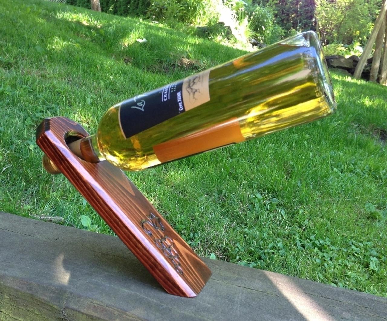 Mahogany Wine Bottle Holder