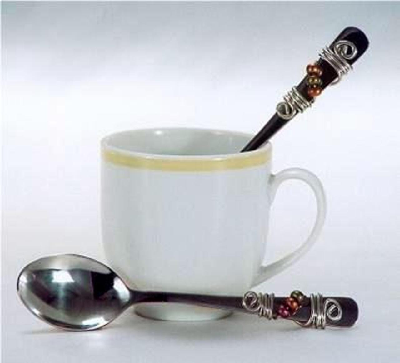 Dazzling Gourmet Beaded Espresso Spoon