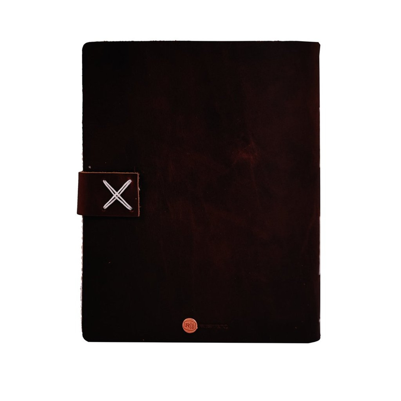 Rustico travelers journal with buckle - back cover