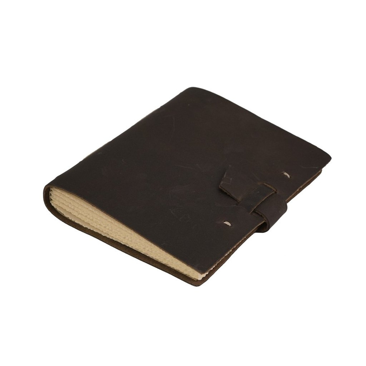 Rustico travelers journal with buckle - side view