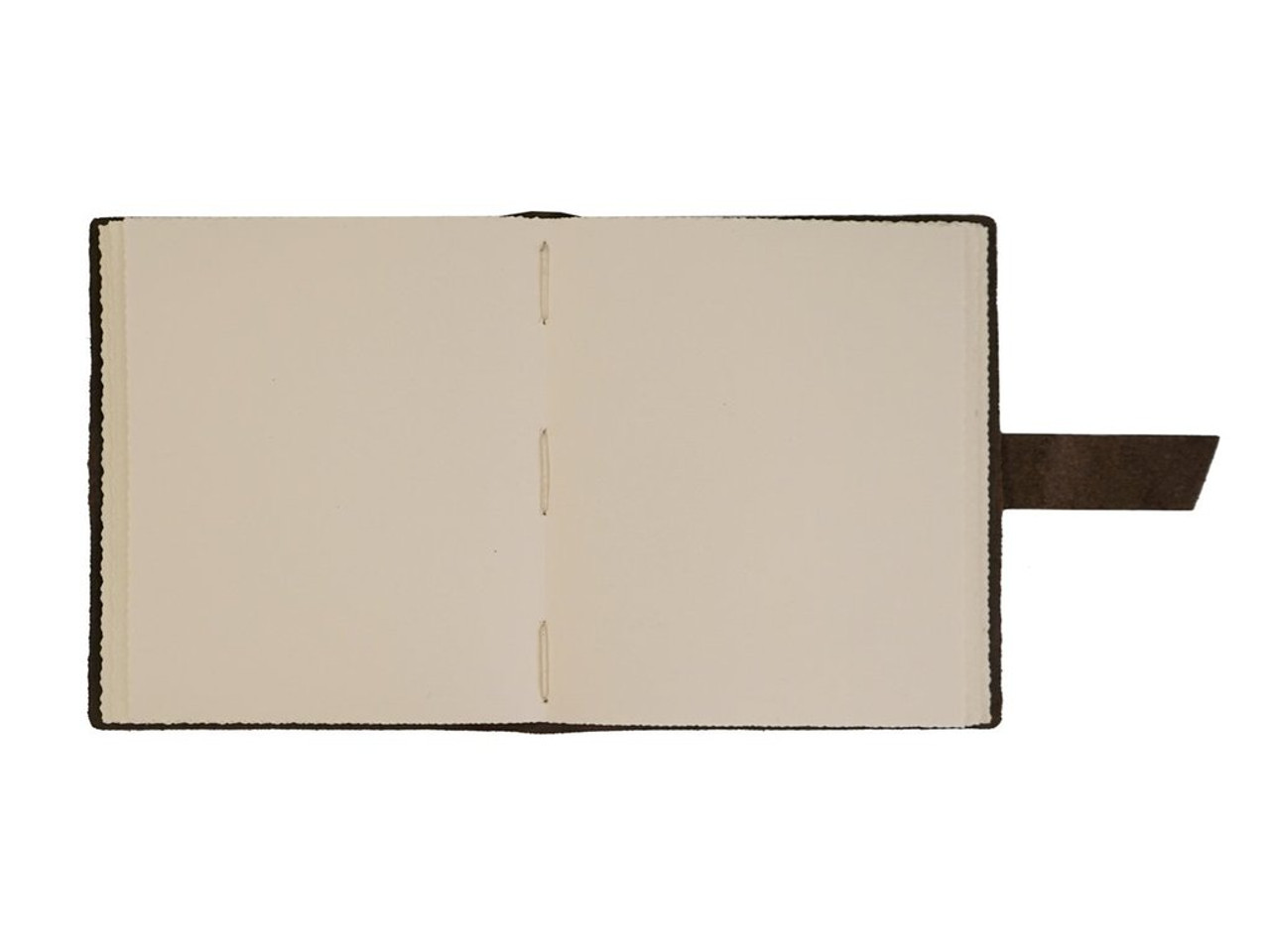 Rustico travelers journal with buckle - inside with paper