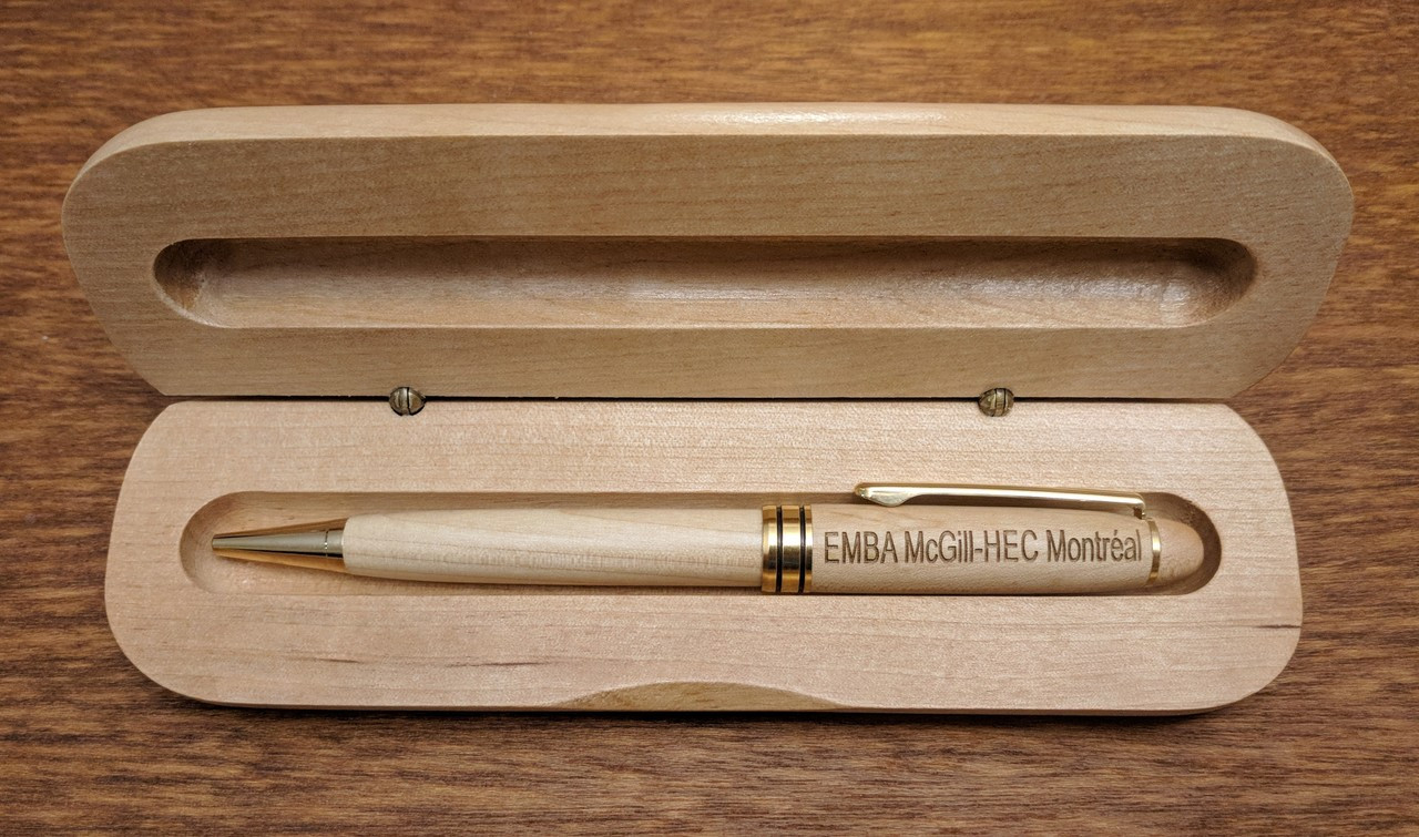 Personalized Maple Pen and Case
