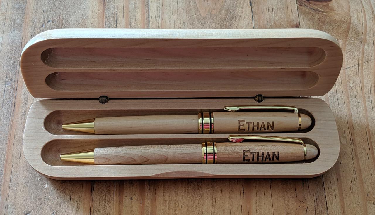 Personalized Wood Pen & Pencil Set