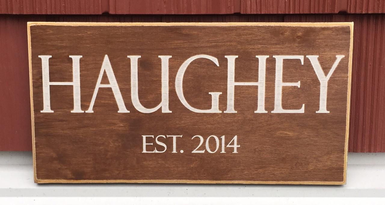 Family Name Rustic Sign