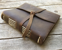 """Rustico """"Travelers"""" Leather Journal Brown 6.5"""" x 7.5"""""""