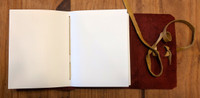 archival paper inside spellbinding journals - small red