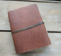 Leather Journal - Small C - back side view