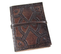 embossed leather journal - small