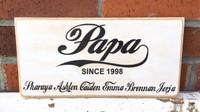 Papa - old fashioned custom sign