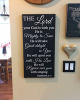 The Lord your God is with You - wood sign