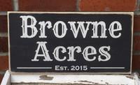 Custom Farm Wood Sign