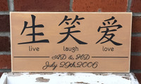 Live, Love, Laugh Family Sign