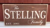 Family Name Establishment Wood Sign